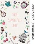 vector invitation card with tea ... | Shutterstock .eps vector #272727530