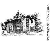 family home engraving  ...   Shutterstock .eps vector #272728064