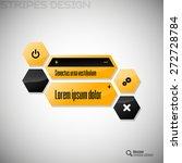 modern hexagon layout. black... | Shutterstock .eps vector #272728784