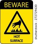 beware hot surface   Shutterstock .eps vector #272729630