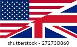 American and British English language icon - isolated illustration useful for websites - stock photo