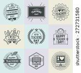 happy teachers  day assorted... | Shutterstock .eps vector #272731580
