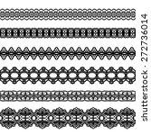 black lacy vintage elegant... | Shutterstock .eps vector #272736014