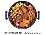 assorted delicious grilled meat ... | Shutterstock . vector #272736710