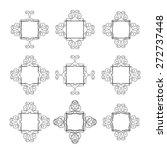 elegant lineart hand drawn... | Shutterstock .eps vector #272737448
