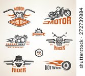 set of vintage motorcycle... | Shutterstock .eps vector #272739884