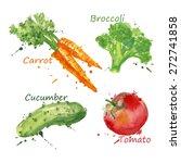 vegetables set hand drawn... | Shutterstock .eps vector #272741858