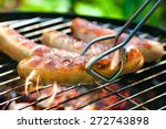 Delicious German Sausages On...