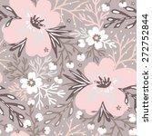 vector floral seamless pattern...   Shutterstock .eps vector #272752844