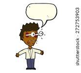 cartoon person talking | Shutterstock .eps vector #272753903
