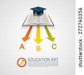 arrow books with cap art object.... | Shutterstock .eps vector #272760356