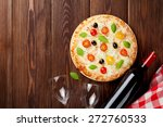 italian pizza with cheese ... | Shutterstock . vector #272760533