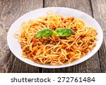 Plate Of Spaghetti Bolognese O...