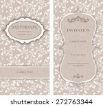 invitation card baroque beige... | Shutterstock .eps vector #272763344