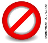 Red Prohibition  Restriction  ...