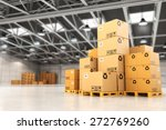 delivery concept. boxes on... | Shutterstock . vector #272769260