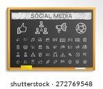 social media hand drawing line... | Shutterstock .eps vector #272769548