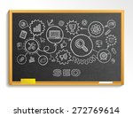 seo hand draw integrated icons... | Shutterstock .eps vector #272769614