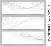 swoosh line halftone web header ...   Shutterstock .eps vector #272769746