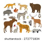 set of forest animals | Shutterstock .eps vector #272771834