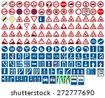 road signs | Shutterstock .eps vector #272777690