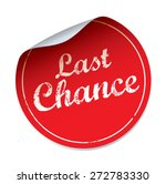 red vector sticker last chance | Shutterstock .eps vector #272783330