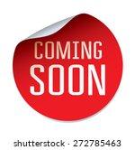 red vector sticker coming soon | Shutterstock .eps vector #272785463