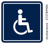 disabled handicap icon | Shutterstock .eps vector #272789984
