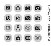 camera icon set | Shutterstock .eps vector #272791346