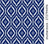 seamless porcelain indigo blue...   Shutterstock .eps vector #272794496
