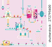 group cupcake factory... | Shutterstock .eps vector #272795600