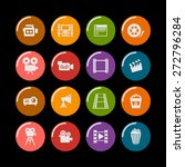 cinema icon set   Shutterstock .eps vector #272796284