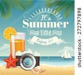 vector summer background with...   Shutterstock .eps vector #272797898