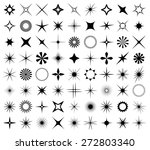 sparkles and starbursts symbols.... | Shutterstock .eps vector #272803340