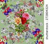 garden watercolor floral with... | Shutterstock .eps vector #272804324