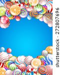 lollipops  candys and sweets... | Shutterstock .eps vector #272807696