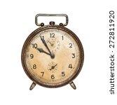 old  retro alarm clock isolated ... | Shutterstock . vector #272811920
