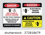 High Voltage Sign Or Electrical ...