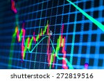 stock graph chart at exchange... | Shutterstock . vector #272819516