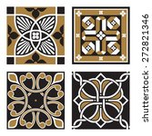 vintage ornamental patterns | Shutterstock .eps vector #272821346