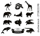 set of animal icons vector... | Shutterstock .eps vector #272822198
