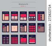flat website wireframe template ...