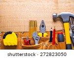 set of tools in toolbelt tape... | Shutterstock . vector #272823050
