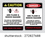 high voltage sign or electrical ... | Shutterstock .eps vector #272827688