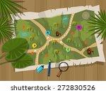 jungle map  | Shutterstock .eps vector #272830526