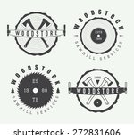 set of vintage carpentry and... | Shutterstock .eps vector #272831606