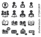 read icon set | Shutterstock .eps vector #272841809