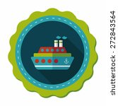 transportation ferry flat icon... | Shutterstock .eps vector #272843564