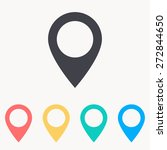 map pin icon | Shutterstock .eps vector #272844650