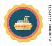 transportation ferry flat icon... | Shutterstock .eps vector #272844758